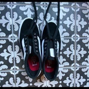Chima Ferguson Pro Vans (black w/ white strips)